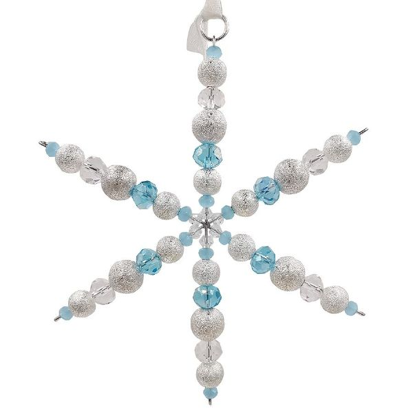 2nd Nov 10.30 - 11.15  Frosted Clear & Turquoise Snowflake
